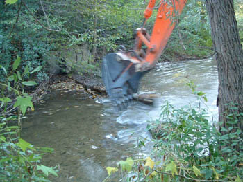 Removing the Prentice Weir